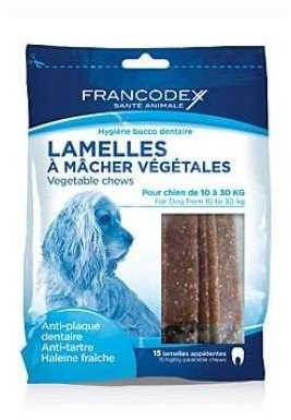 Francodex weggy žvýkací plátky M pes 350g 15ks - Pamlsky pro psy