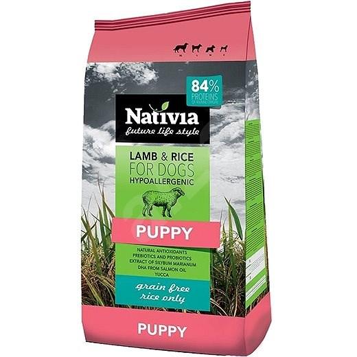 Nativia Puppy Lamb & Rice 3kg - Granule pro štěňata