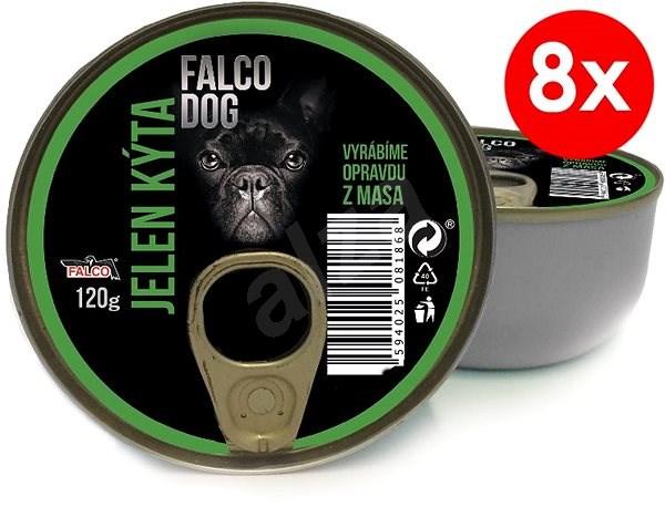 FALCO DOG 120g jelen kýta, 8ks - Konzerva pro psy