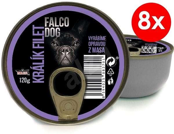 FALCO DOG 120g králík filet, 8ks - Konzerva pro psy