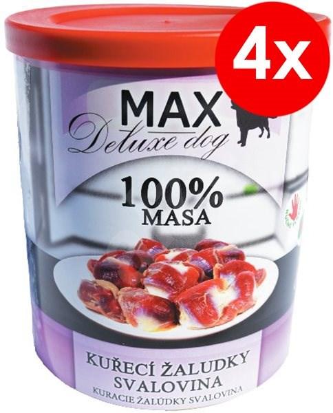 MAX deluxe kuřecí žaludky - svalovina 800g, 4ks - Konzerva pro psy