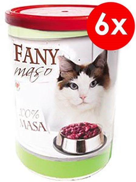 FANY maso 400g, 6ks - Konzerva pro kočky