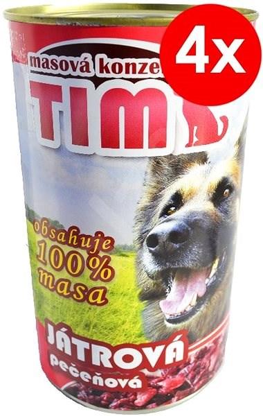 TIM 1200g játrová, 4ks - Konzerva pro psy