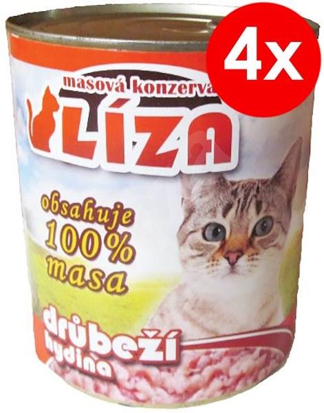 LÍZA 800g drůbeží, 4ks - Konzerva pro kočky