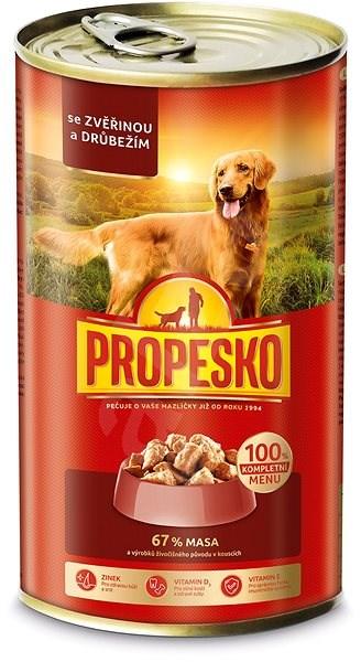 Propesko kousky pes zvěřina+drůbež 1240 g - Konzerva pro psy