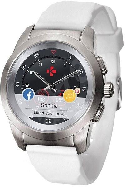 MyKronoz ZeTime Original Silver/White - 39 mm - Chytré hodinky