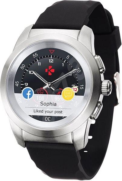 ccc90f9e92 MyKronoz ZeTime Original Silver Black - 44 mm - Chytré hodinky