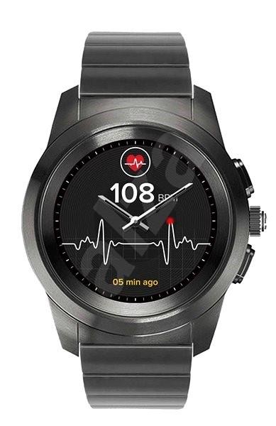 MyKronoz ZeTime Premium Titanium/Black - 44 mm - Chytré hodinky