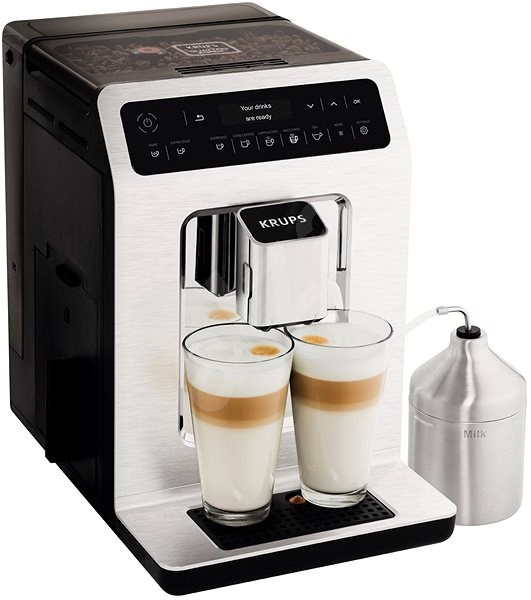 KRUPS EA891C10 + XS6000 EVIDENCE METAL CHROME s nádobou na mléko - Automatický kávovar