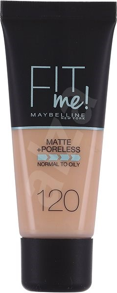 MAYBELLINE NEW YORK Fit Me! Matte & Poreless Make Up 120 Classic Ivory 30 ml - Make-up