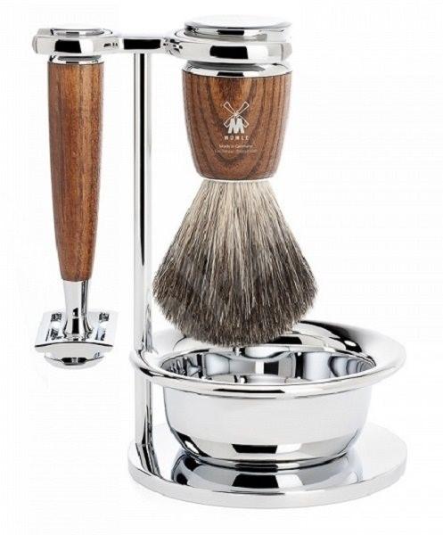 MÜHLE Rytmo Ash Pure Badger 4-dílná - Dárková kosmetická sada