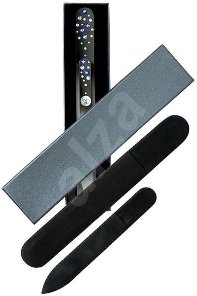 DUKAS Skleněný pilník na nehty velký a malý s kamínky Swarovski - Modré kamínky - Dárková sada kosmetická