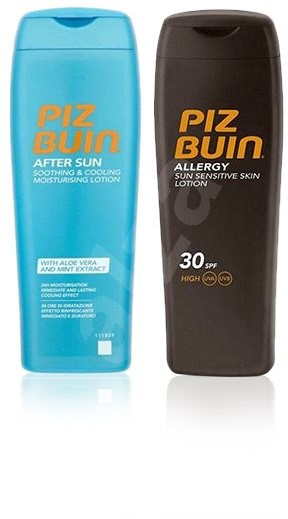 PIZ BUIN Allergy Lotion SPF30 200 ml + After Sun Soothing&Cooling Lotion 200 ml - Kosmetická sada
