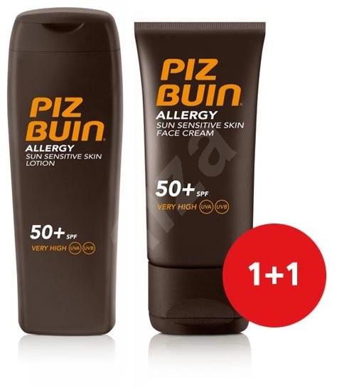 PIZ BUIN Allergy Sun Sensitive Skin Lotion SPF50+  + Piz Buin Allergy Sun Sensitive Skin Face Care S - Kosmetická sada