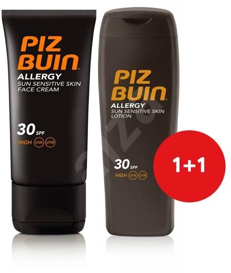 PIZ BUIN Allergy Sun Sensitive Skin Lotion SPF30 + Piz Buin Allergy Sun Sensitive Skin Face Care SPF - Kosmetická sada