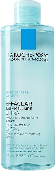 LA ROCHE-POSAY Effaclar Micellar Water Ultra For Oily Skin 400 ml - Micelární voda