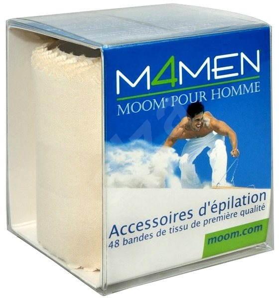 MOOM M4MEN Premium Fabric Strips 48 ks - Depilační pásky