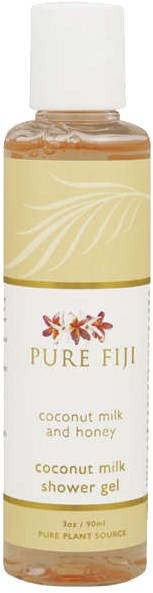 Pure Fiji Sprchový gel z kokosového mléka Med a mléko 90 ml - Sprchový gel