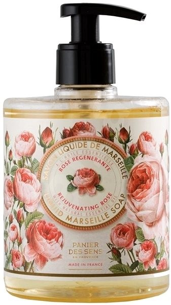 PANIER DES SENS Rejuvenating Rose Liquid Marseille Soap 500 ml - Tekuté mýdlo