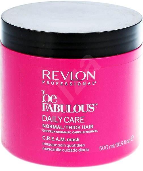 REVLON Be Fabulous Normal Thick Cream Mask 500 ml - Maska na vlasy ... c26ec0ab103