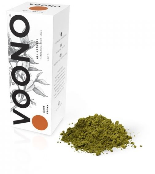 VOONO Light brown - Henna Hair Dye