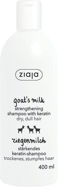 ZIAJA Kozí mléko Šampon na vlasy s keratinem 400 ml - Šampon