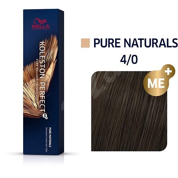 WELLA PROFESSIONALS Koleston Perfect Pure Naturals 4/0 (60 ml) - Barva na vlasy