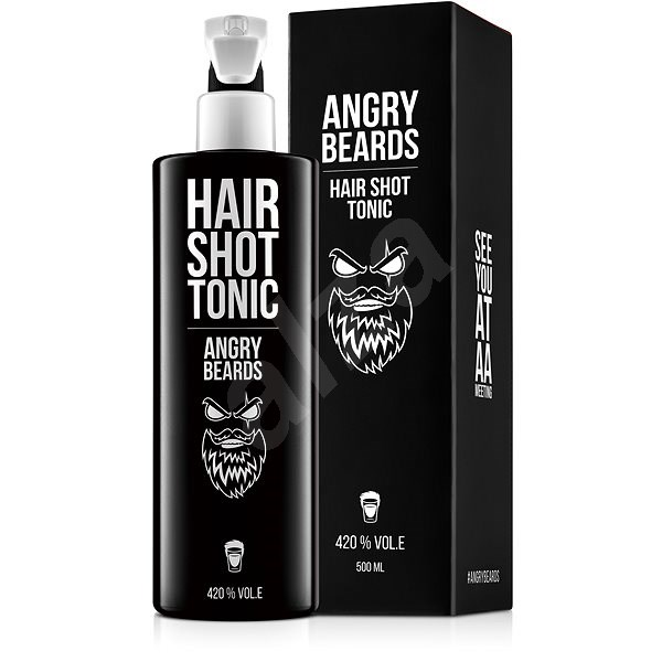 ANGRY BEARDS Hair Shot Tonikum 500 ml - Vlasová kúra