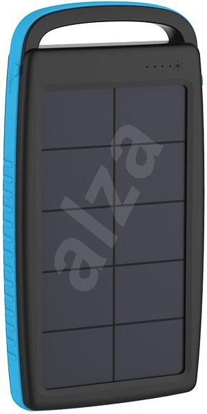 XLAYER Powerbank PLUS Solar 20000mAh černá/modrá - Powerbanka