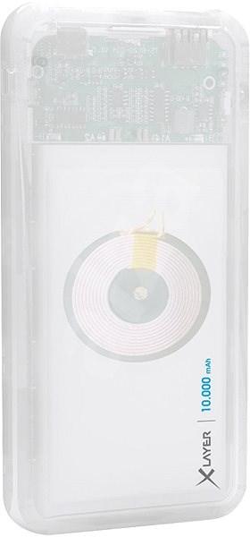 XLAYER Powerbank PLUS Qi Wireless Discover 10000mAh bílá - Powerbanka