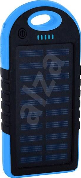 XLAYER Powerbank PLUS Solar 4000mAh černá/modrá - Powerbanka