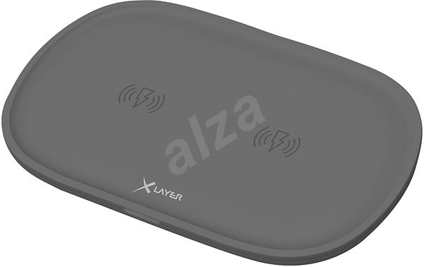 XLAYER Wireless Charging Pad double, antracit - Nabíjecí podložka