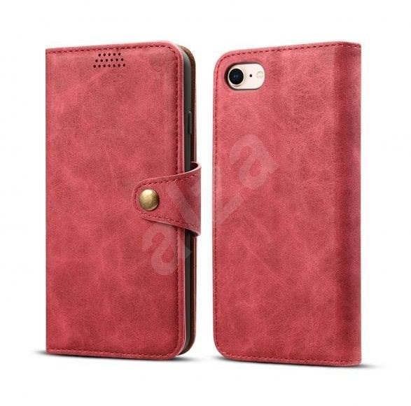 Lenuo Leather pro iPhone 8/7 , červená - Pouzdro na mobilní telefon