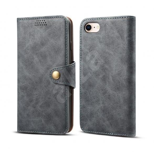 Lenuo Leather pro iPhone SE/8/7 , šedá - Pouzdro na mobil
