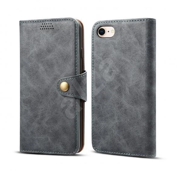 Lenuo Leather pro iPhone 8/7 , šedá - Pouzdro na mobil