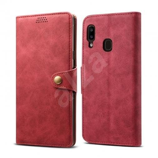 Lenuo Leather pro Samsung Galaxy A20e, červené - Pouzdro na mobilní telefon