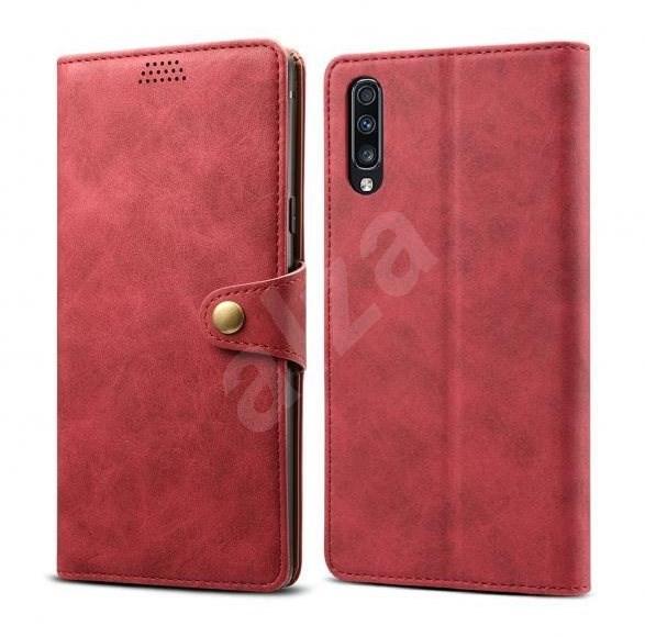 Lenuo Leather pro Samsung Galaxy A70, červené - Pouzdro na mobilní telefon