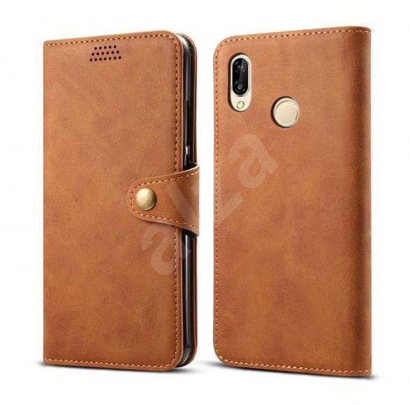 Lenuo Leather pro Huawei P30 lite, hnědé - Pouzdro na mobilní telefon