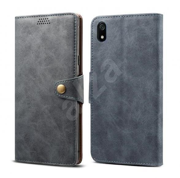 Lenuo Leather na Xiaomi Redmi 7A, šedé - Pouzdro na mobilní telefon
