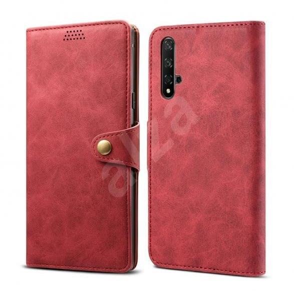 Lenuo Leather pro Honor 20/Huawei Nova 5T, červená - Pouzdro na mobilní telefon