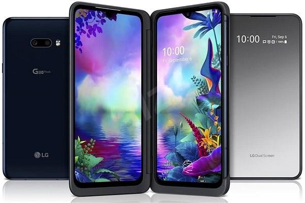 LG G8X ThinQ Dual Screen černá - Mobilní telefon