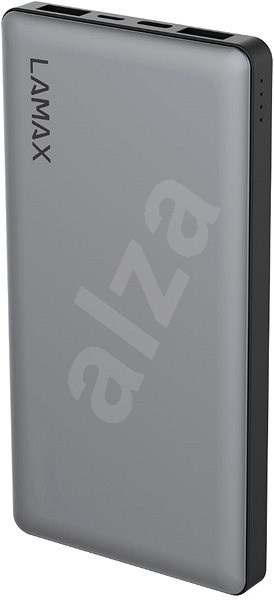 LAMAX 10000mAh Quick Charge silver - Powerbanka