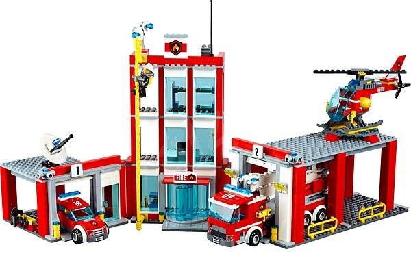 Lego city 60110 hasi i hasi sk stanice stavebnice - Caserne de police playmobil ...