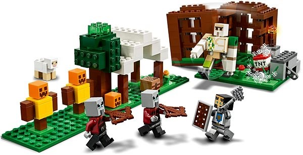 LEGO Minecraft 21159 Základna Pillagerů - LEGO stavebnice