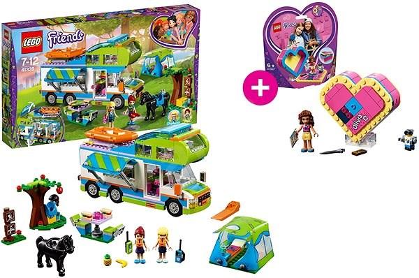 LEGO Friends 41339 Mia a její karavan a LEGO 41357 Oliviina srdcová krabička - Stavebnice