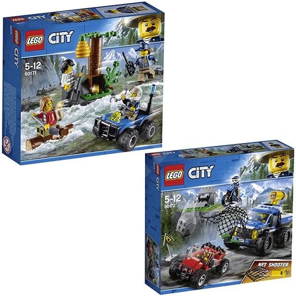 e474ec2ee LEGO City 60171 Zločinci na útěku v horách + LEGO City 60172 Honička v  průsmyku -