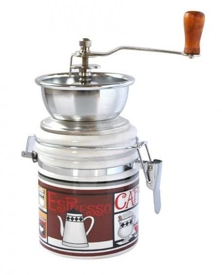 Toro Mlýnek na kávu, porcelán, nerez, motiv Espresso - Mlýnek na kávu