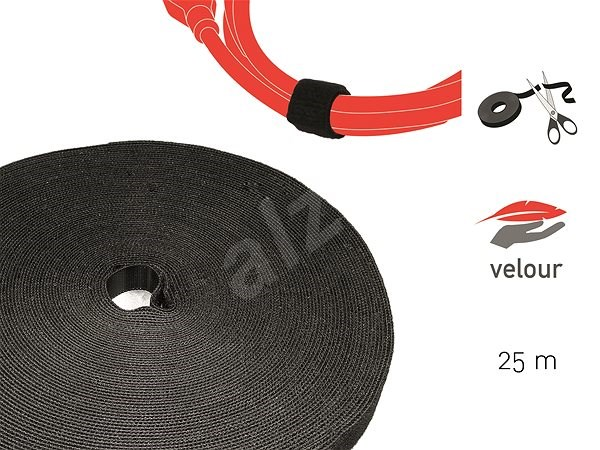 LABEL THE CABLE LTC PRO Roll 1210 Black 25m - Organizér kabelů