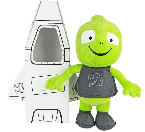 Plyšový mimozemšťan Alza II s raketou - Plyšák