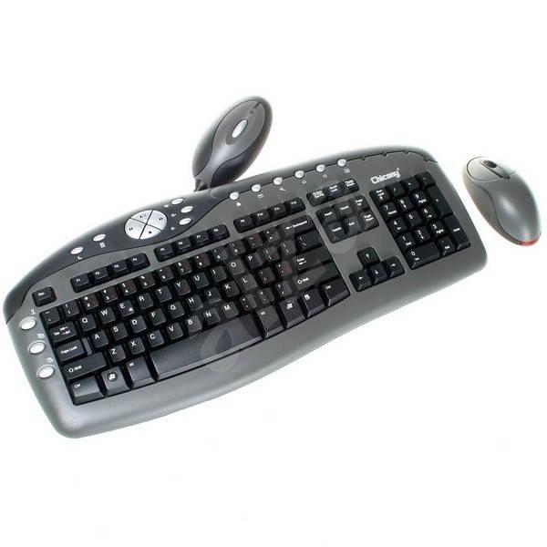 CHICONY Cordless Optical Fun-Touch WUR-0108 CZ černý - Set klávesnice a myši
